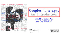 Couples Therapy: An Introduction - With Ellyn Bader & Dan Wile